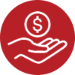 icon-cash in hand symbol
