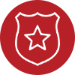icon-red badge symbol