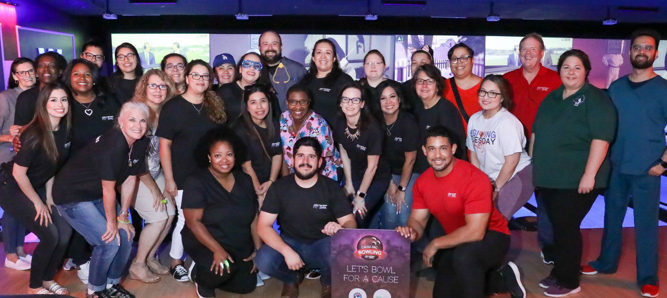 group shot of Members Choice employees at our Bowl for a Cause event
