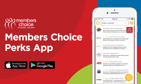 Members Choice Perks App - Download on the Apple App Store or Google Play