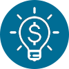 icon-lightbulb with money symbol